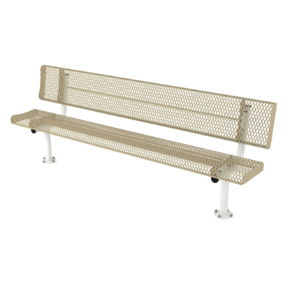 8 ft. Bench with Back - Thermoplastic Coated Steel