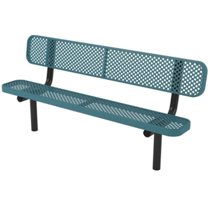 8 ft. Bench with Back - Ultra Leisure Perforated