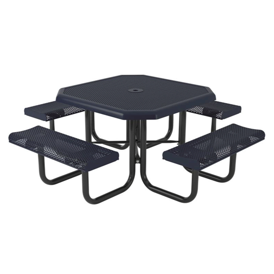 Octagonal Picnic Table - Perforated Thermoplastic Steel