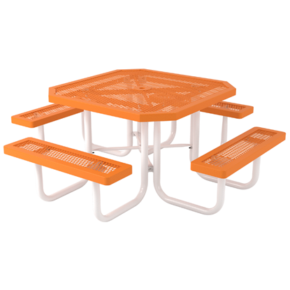 Octagonal Thermoplastic Steel Picnic Table