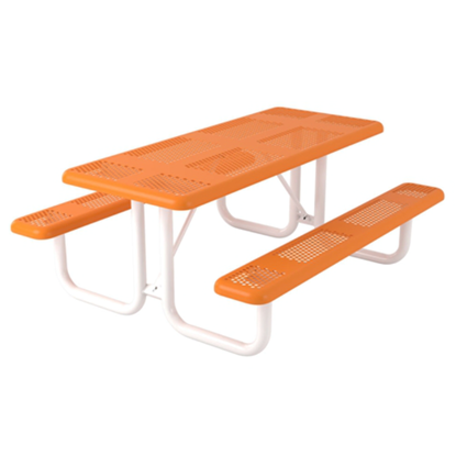 Rectangular 6 ft. Thermoplastic Steel Picnic Table