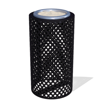 Round Ash Urn - Plastic Coated Perforated Steel