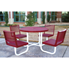 Round Thermoplastic Steel Picnic Table - With Back