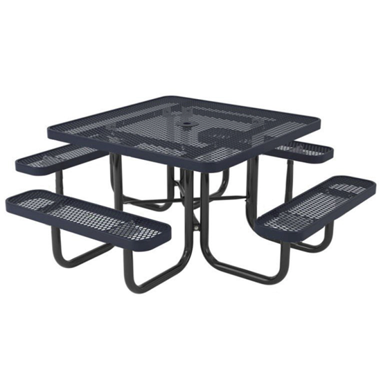 Square Thermoplastic Steel Picnic Table - Ultra Leisure Style