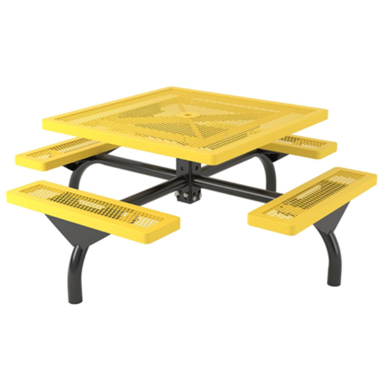 Square Web Style Thermoplastic Picnic Table