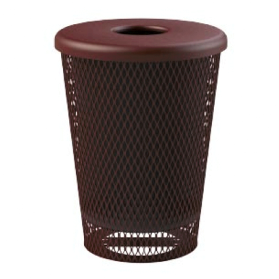 Tapered Trash Receptacle