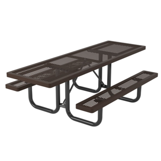 ADA Wheelchair Accessible Rectangular 8' Thermoplastic Steel Picnic Table
