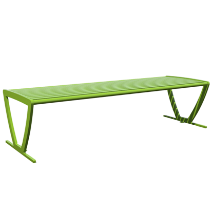 Zion 6 Ft. Powder Coated Steel Bench without Back