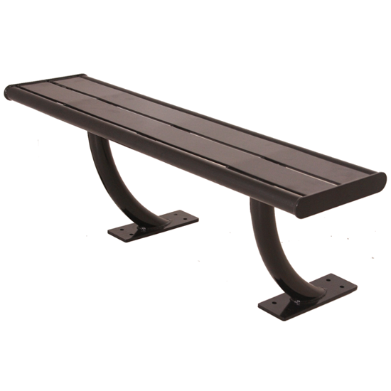 Acadia Powder Coated Steel Bench without Back