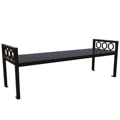 Biscayne Powder Coated Steel Bench without Back