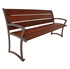 Bryce IPE Bench with Back and Steel Frame