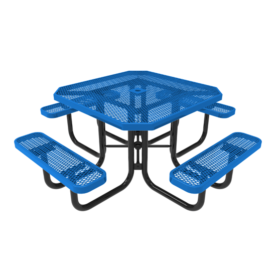 ELITE Series Octagonal Thermoplastic Steel Picnic Table - Quick Ship - Portable