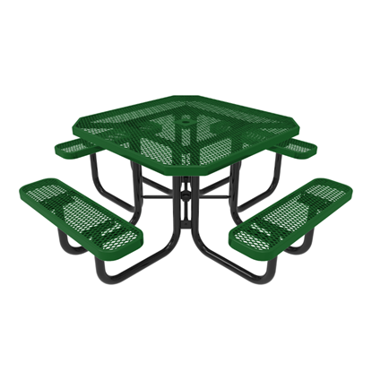 RHINO Octagonal Thermoplastic Steel Picnic Table - Quick Ship - Portable