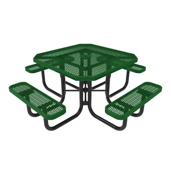 RHINO Octagonal Thermoplastic Steel Picnic Table - Quick Ship - Portable