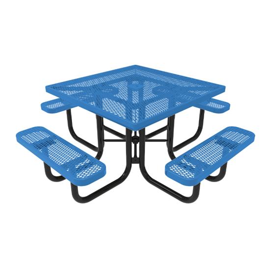 ELITE Series Square Thermoplastic Steel Picnic Table - Quick Ship - Portable