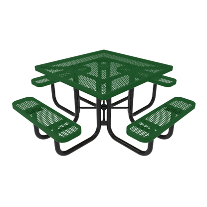 RHINO Square Thermoplastic Steel Picnic Table - Quick Ship - Portable