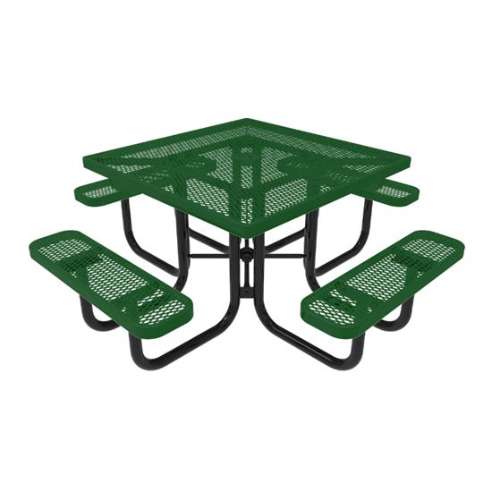 RHINO Square Thermoplastic Steel Picnic Table - Quick Ship - Portable