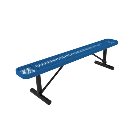 ELITE Series 4 Foot Rectangular Thermoplastic Metal Bench without Back - Quick Ship