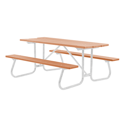6 ft. Recycled Plastic Picnic Table - Welded Frame - Portable