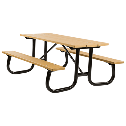 6 ft Recycled Plastic Picnic Table - Welded Frame - Portable