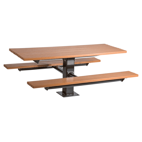 6 ft Recycled Plastic Picnic Table - Surface or In-ground Mt