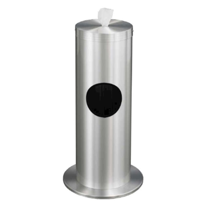 Standing Hand Wipe Dispenser with 2-Gallon Trash Receptacle - 20 lbs.