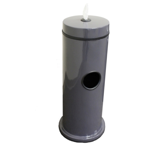 Hand Wipe Dispenser with 7-Gallon Fiberglass Trash Receptacle