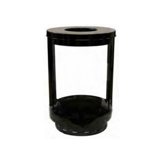 55-Gallon Lookout Trash Receptacle with Transparent Panels - 90 lbs.