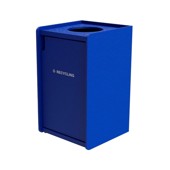 42-Gallon Top-Opening Plastic EarthCraft Recycling Receptacle - 91 lbs.
