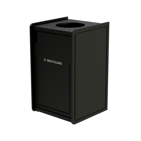 42-Gallon Top-Opening Plastic EarthCraft Trash Receptacle - 91 lbs.