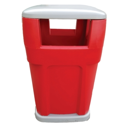 65-Gallon Waste Receptacle Polyethylene Plastic High-Strength - 130 lbs.