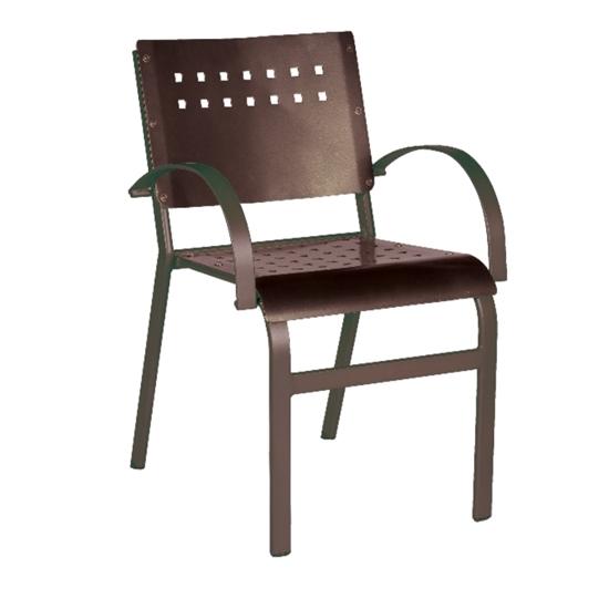Aurora Dining Chair with Hexagonal Aluminum Frame for Outdoor Restaurants - 9 lbs.