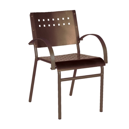 Avalon Dining Chair with Tubular Aluminum Frame for Outdoor Restaurants - 9 lbs.