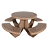 Round Commercial Concrete Picnic Table - Portable