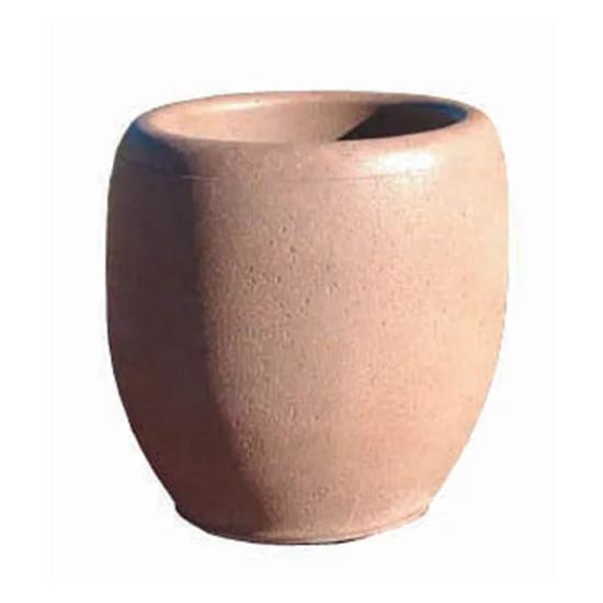 """24"""" Commercial Round Concrete Planter - Portable"""