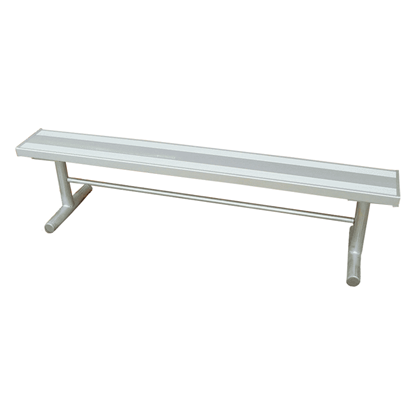 15 ft. Aluminum Park Bench without Back - Galvanized Frame