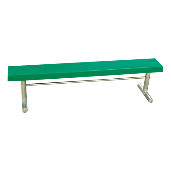 15 ft. Fiberglass Bench without Back - Welded Frame