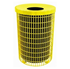 32 Gallon Round Wired Trash Receptacle Plastic Coated Welded Wire Style