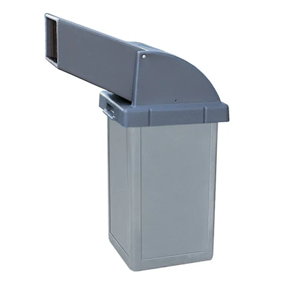 24 Gallon Trash Receptacle - Plastic With Drive-Thru Top - Portable