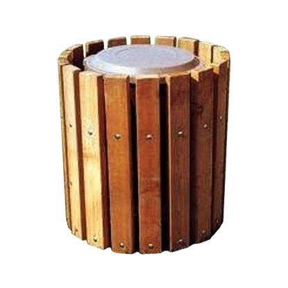 Frame Only For 32 Gallon Trash Can - Inground Mount