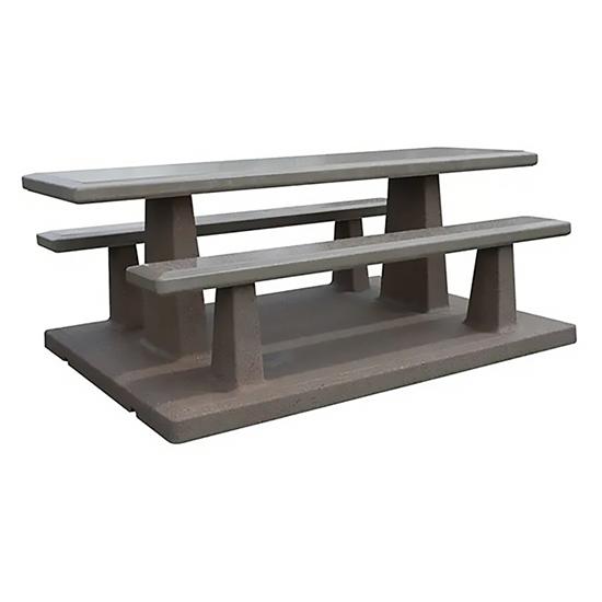 7 Ft Concrete Picnic Table - Single Precast Piece - Portable