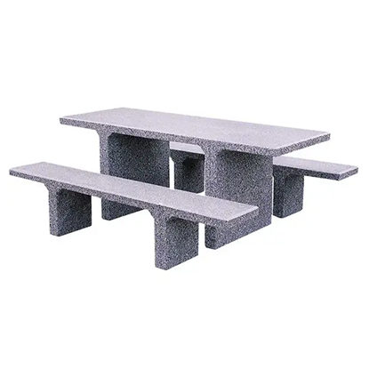 7 Ft ADA Wheelchair Accessible Concrete Picnic Table - 2 Unattached Benches