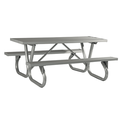 8 Ft Aluminum Picnic Table - Bolted Frame - Portable