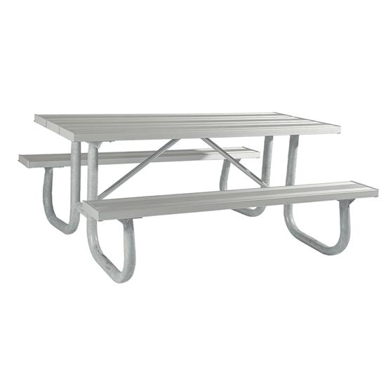 8 Ft Aluminum Picnic Table - Welded Frame - Portable