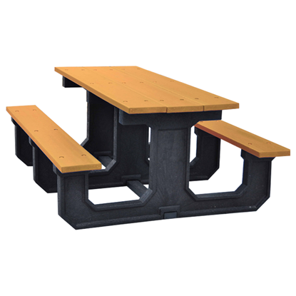 8 Ft Recycled Plastic Park Picnic Table - Portable