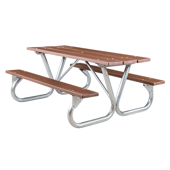 8 Ft Recycled Plastic Picnic Table - Bolted Frame - Portable