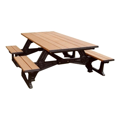 8 Ft. Recycled Plastic Picnic Table - Wheelchair Accessible - Portable