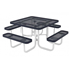 Square Thermoplastic Metal Picnic Table - Perforated Style