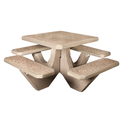Square Concrete Picnic Table - Portable