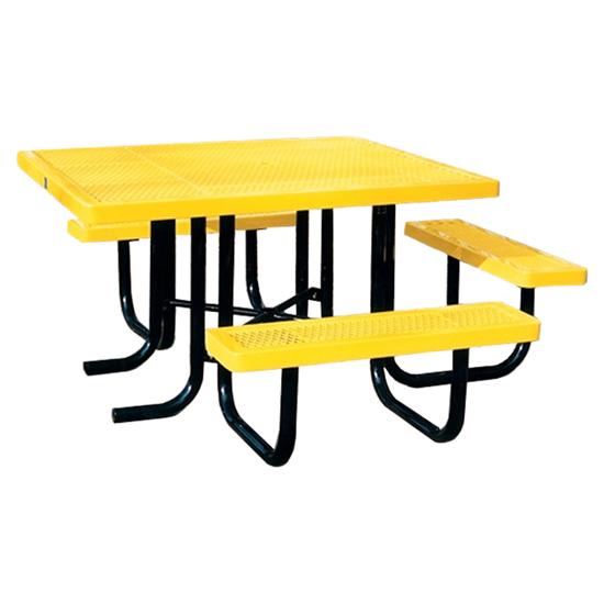 ADA Square Thermoplastic Picnic Table - 3 Seats - Portable